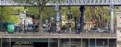 Métropolitain, station Jaurès -  Paris zoom métro aérien station JAURèS-001
