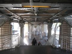 Métropolitain, station Jaurès -  Métro de Paris, Sous le viaduc, Station Jaurès (ligne 2), Paris, France