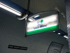 Métropolitain, station Pré-Saint-Gervais - Français:   Station Pré-Saint-Gervais de la ligne 7 bis du métro de Paris, France.