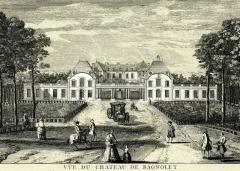 Hospice Debrousse - Français:   Château et avant-cour; vue du côté Bagnolet (vue partielle).