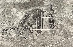 Hospice Debrousse - English: Château de Bagnolet on the map of Paris by Roussel.