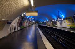 Métropolitain, station Gambetta -  Metro Station, Paris