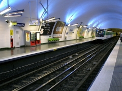 Métropolitain, station Gambetta - Français:   La station Gambetta de la ligne 3 du métro de Paris, France.