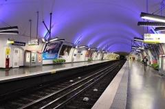 Métropolitain, station Gambetta -   (Père lachaise) Avenue Gambetta  Gambetta metro station.
