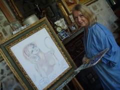 Atelier du peintre Jean-François Millet -  Erika Gagé, peintre franco-allemande a fait revivre un des dernier atelier de peinture de l'époque Millet, le jardin des Arts à Barbizon. En 2000, elle fêta sa 40 ans de carrière.