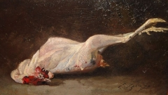 Auberge Ganne - English: Emmanuel Zamor: Nature Morte (Still Life) with a Chicken