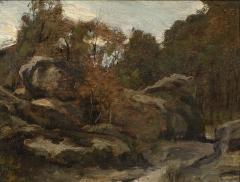 Auberge Ganne - Nederlands: Theophile de Bock (1851-1904), Barbizon, 1880, Kunsthandel Pygmalion