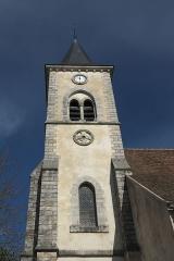 Eglise - Deutsch: Katholische Pfarrkirche Saint-Sévère in Bourron-Marlotte im Département Seine-et-Marne (Île-de-France/Frankreich), Glockenturm