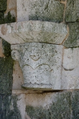 Eglise Saint-André - Deutsch: Ehemaliges Priorat Saint-André in Château-Landon, einer Gemeinde im Département Seine-et-Marne (Île-de-France), aus der Mitte des 12. Jahrhunderts, romanische Konsole