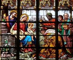 Eglise Saint-Martin - Egrevlle - Eglise Saint-Martin - Vitrail de l'Adoration des Mages