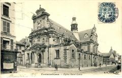 Eglise Saint-Louis - Français:   L\'église Saint-Louis de Fontainebleau au début du XXème siècle