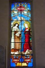 Eglise Saint-Louis - Deutsch:   Bleiglasfenster in der Kirche Saint-Louis in Fontainebleau im Département Seine-et-Marne (Île-de-France), Darstellung: hl. Theresia und hl. Katharina