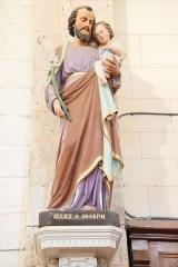 Eglise de Lorrez-le-Bocage - Français:   Saint Joseph. Saint Joseph promu saint patron de l\'église universelle en 1870, représente le père terrestre qui a su accepter le Mystère Divin.