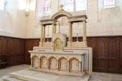 Eglise de Lorrez-le-Bocage - Français:   Ancien autel.