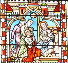 Eglise de Lorrez-le-Bocage - Français:   Adoration des Rois Mages.