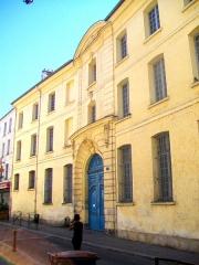 Séminaire - Français:   L\'ancien grand séminaire, rue Saint-Rémy, vue partielle.