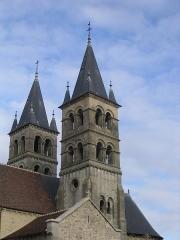 Eglise Notre-Dame -  Clochers de la collégiale Notre Dame, à Melun.