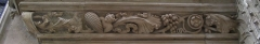 Eglise Saint-Aspais -  Une frise sculptée de l\'égliqe Saint Aspais à Melun.