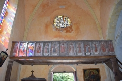 Eglise Saint-Martin - Français:   Église Saint Martin - tribune d\'orgue Village de Moisenay