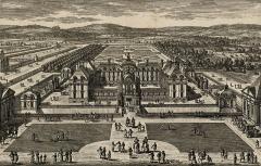 Château - Deutsch: Stich des Schlosses Montceaux im 17. Jahrhundert