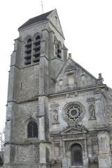 Eglise Notre-Dame - Deutsch: Katholische Kirche Notre-Dame (de la Nativité de la Vierge) in Othis im Département Seine-et-Marne (Région Île-de-France/Frankreich), Glockenturm und Westfassade mit Renaissanceportal
