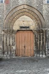 Hôtel-Dieu - English:  Door of the Hotel-Dieu de Provins on the Rue Saint-Thibault.