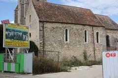 Eglise Saint-Julien - Français:   Réau - Eglise Saint-Julien La nef vue du Sud (premier art roman)