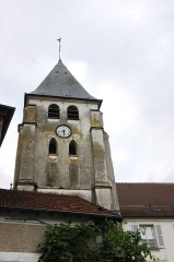 Eglise - English: Église Saint Jean-Baptiste - Saint-Thibault-des-Vignes - Clocher