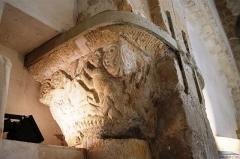 Eglise - English: Église Saint Jean-Baptiste - Saint-Thibault-des-Vignes - Chapiteau - Martyre de St Vincent