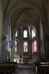 Eglise Saint-Clair-Saint-Léger - Deutsch: Katholische Pfarrkirche Saint-Clair-Saint-Léger in Souppes-sur-Loing im Département Seine-et-Marne in der Region Île-de-France (Frankreich), Innenraum mit Blick zum Chor