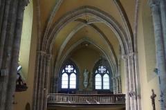 Eglise Saint-Clair-Saint-Léger - Deutsch: Katholische Pfarrkirche Saint-Clair-Saint-Léger in Souppes-sur-Loing im Département Seine-et-Marne in der Region Île-de-France (Frankreich), Blick zur Empore