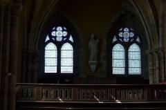 Eglise Saint-Clair-Saint-Léger - Deutsch: Katholische Pfarrkirche Saint-Clair-Saint-Léger in Souppes-sur-Loing im Département Seine-et-Marne in der Region Île-de-France (Frankreich), Empore