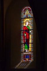Eglise Saint-Amand - Deutsch: Bleiglasfenster in der katholischn Pfarrkirche Saint-Amand in Thomery im Département Seine-et-Marne (Île-de-France), Darstellung: hl. Joseph