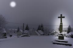 Eglise - Français:   Treuzy-Levelay sous la neige en février 2018.