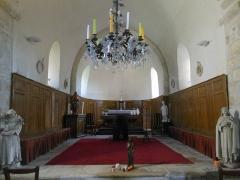 Eglise - Français:   Intérieur de l\'église saint Martin de Treuzy-Levelay.