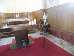 Eglise - Français:   Je visite l\'intérieur de l\'église saint Martin de Treuzy-Levelay...