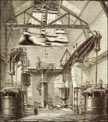 Bâtiments de la machine de Marly (également sur commune de Louveciennes) - English: Marly Machine. The steem engine of Chaillot by 1880.