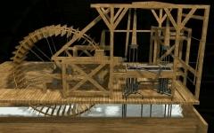 Bâtiments de la machine de Marly (également sur commune de Louveciennes) - English: 3D computer model of one wheel from la Machine de Marly