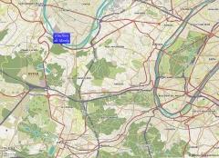 Bâtiments de la machine de Marly (également sur commune de Louveciennes) - English: Location of the Machine de Marly