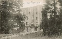 Domaine dit Désert de Retz - Français:   Carte postale ancienne (début XXème siècle) figurant la colonne ruinée (avec un troupeau de moutons) du Désert de Retz, à Chambourcy.