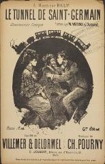 Restaurant Fournaise, dans l'île des Impressionnistes (ancienne île du Chiard) - English: Cover art of song book. Musée Fournaise de Chatou. Inv. CVC.1993.433. 27,5 x 17,5 cm.