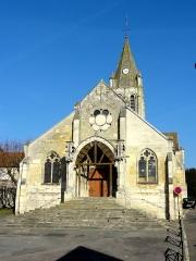 Eglise Saint-Maclou - Français:   Façade occidentale.