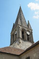 Eglise Saint-Germain-de-Paris - Deutsch: Katholische Pfarrkirche Saint-Germain-de-Paris in Hardricourt im Département Yvelines (Île-de-France/Frankreich), Turm