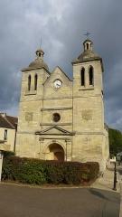 Eglise Saint-Germain Saint-Clair et croix - Français:   Église Saint-Germain de Médan