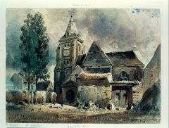 Eglise Saint-Vincent - French lithographer and painter
