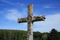 Croix de cimetière - English: Cross in the cemetery in Milon-la-Chapelle in the Yvelines department in France.