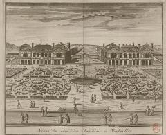 Château - English: [Noisy] du côté du jardin à Versailles;