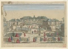 Château - English: Vue perspective du Chateau de Noizi du côté de l'entrée proche Versailles. N° 118: [estampe]