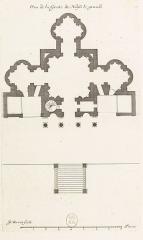 Château - English: Plan de la grotte de [Noisy-le-Grand];