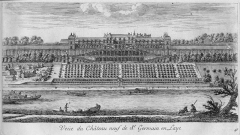Restes du château Neuf - French engraver and drawer